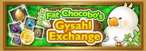 Fat Chocobo - Gysahl Exchange