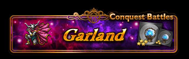 conquer garland banner