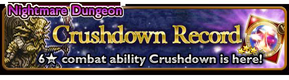 crushdown record banner 2