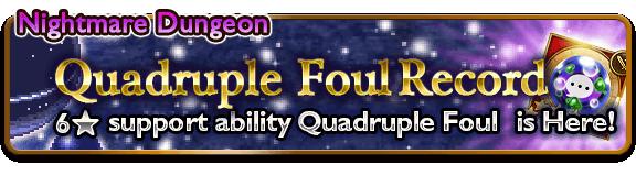 quadruple foul banner