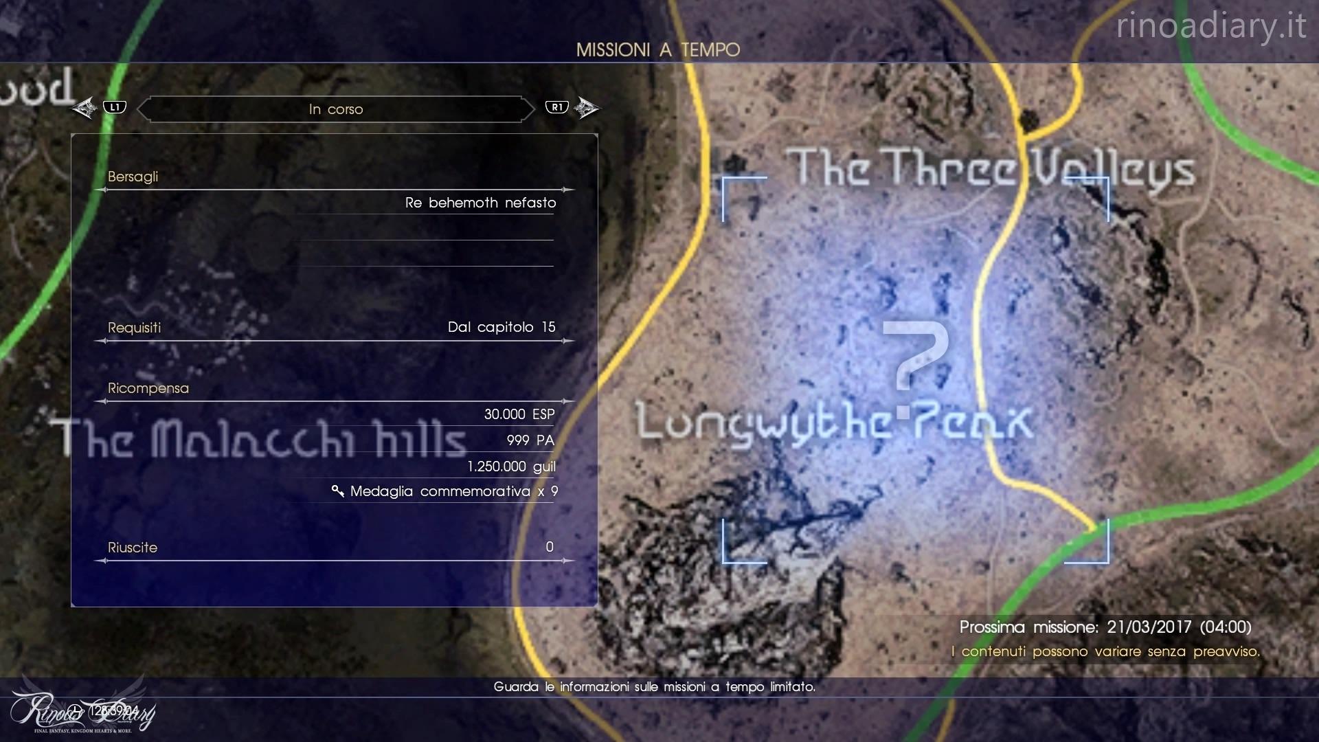 Final Fantasy XV - Missioni a tempo - Re Behemoth Nefasto #1