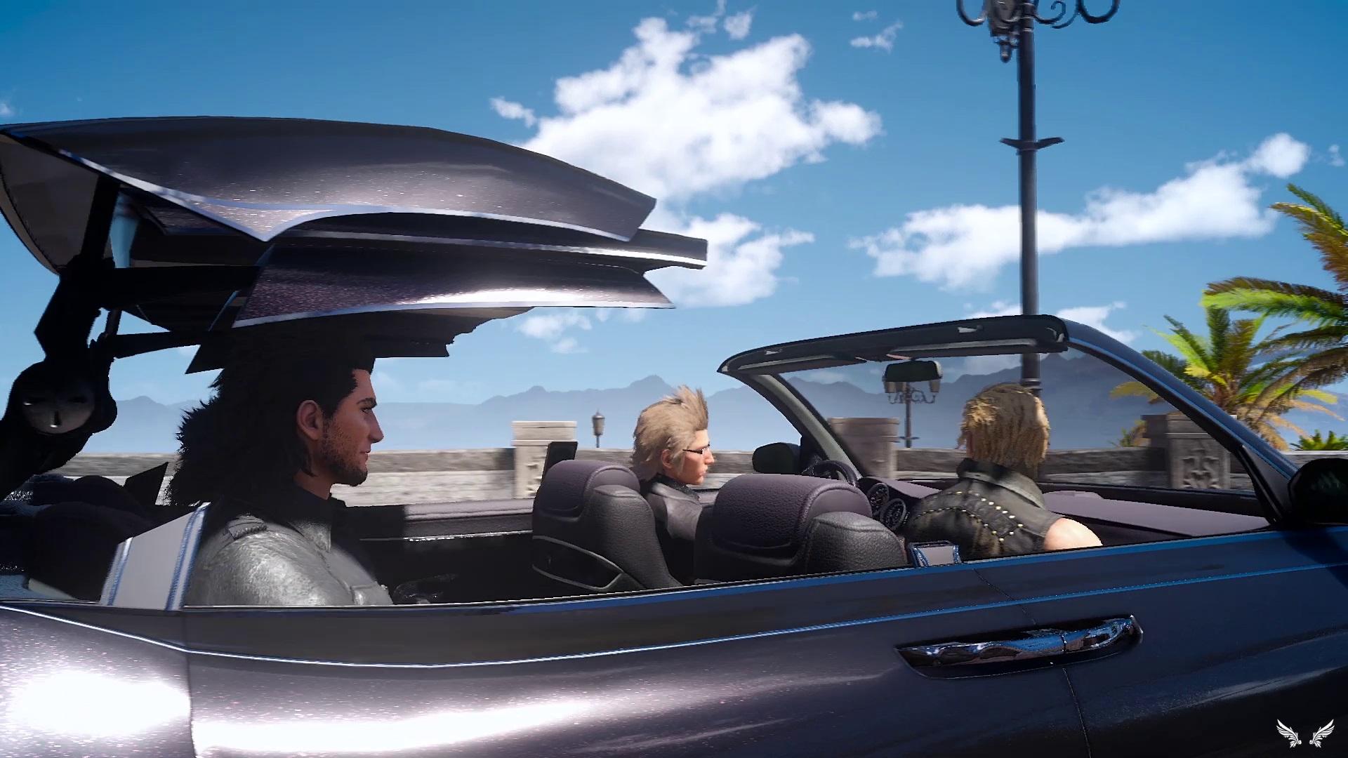 Final Fantasy XV - I protagonisti a bordo di Regalia