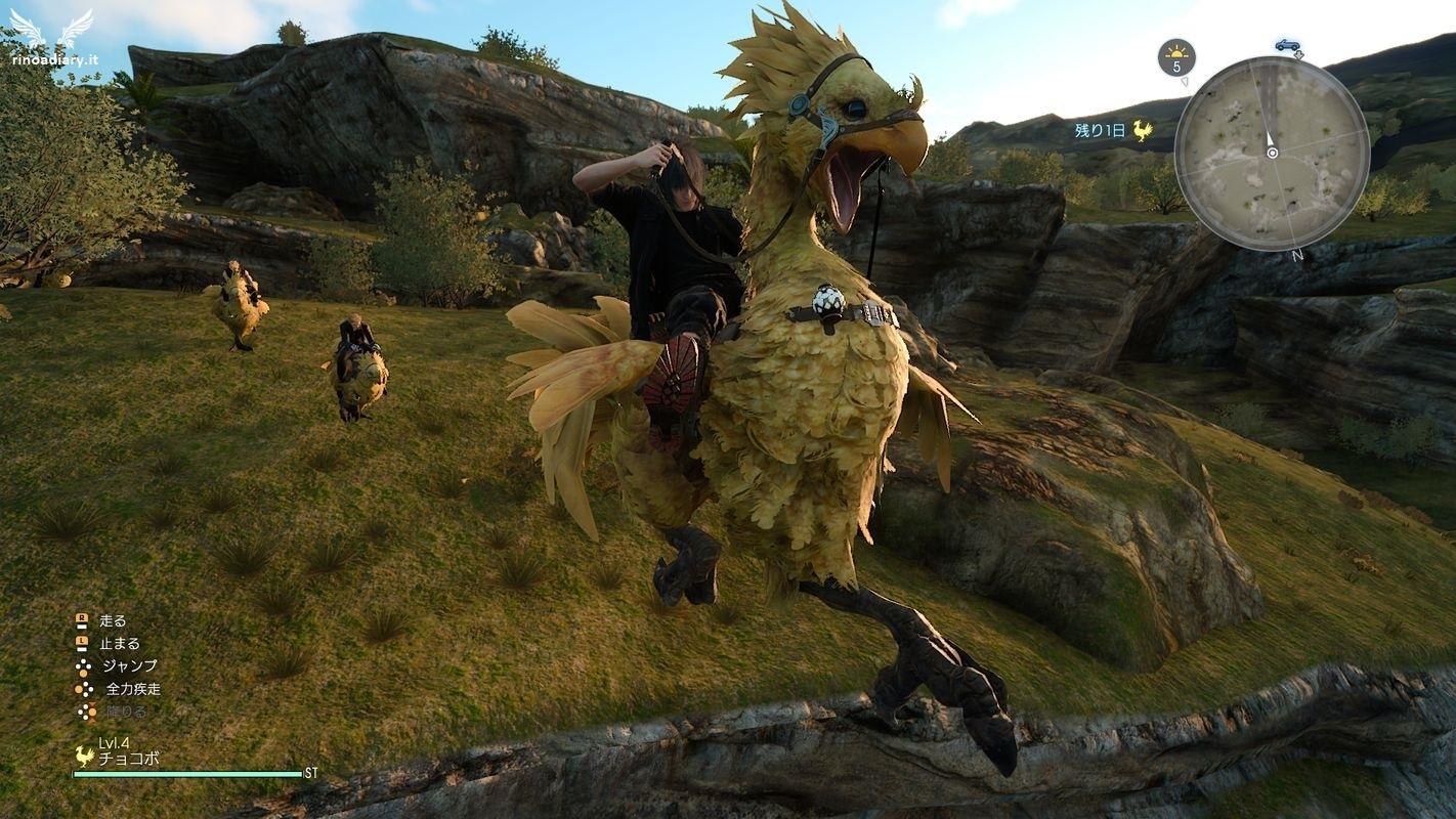 Final Fantasy XV - In groppa al Chocobo è possibile spiccare dei salti acrobatici