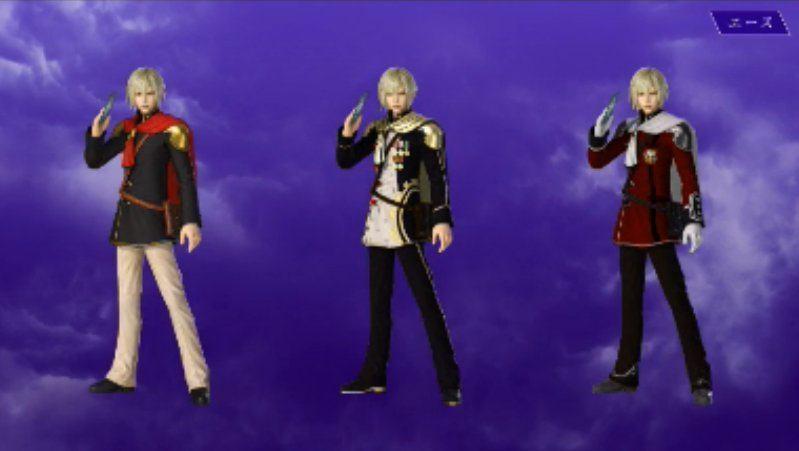 Outfit alternativi per Ace, in Dissidia Arcade Final Fantasy