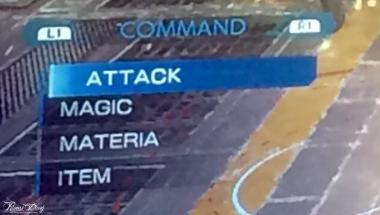 FFVII Remake mostrato al MAGIC, dettaglio del menu