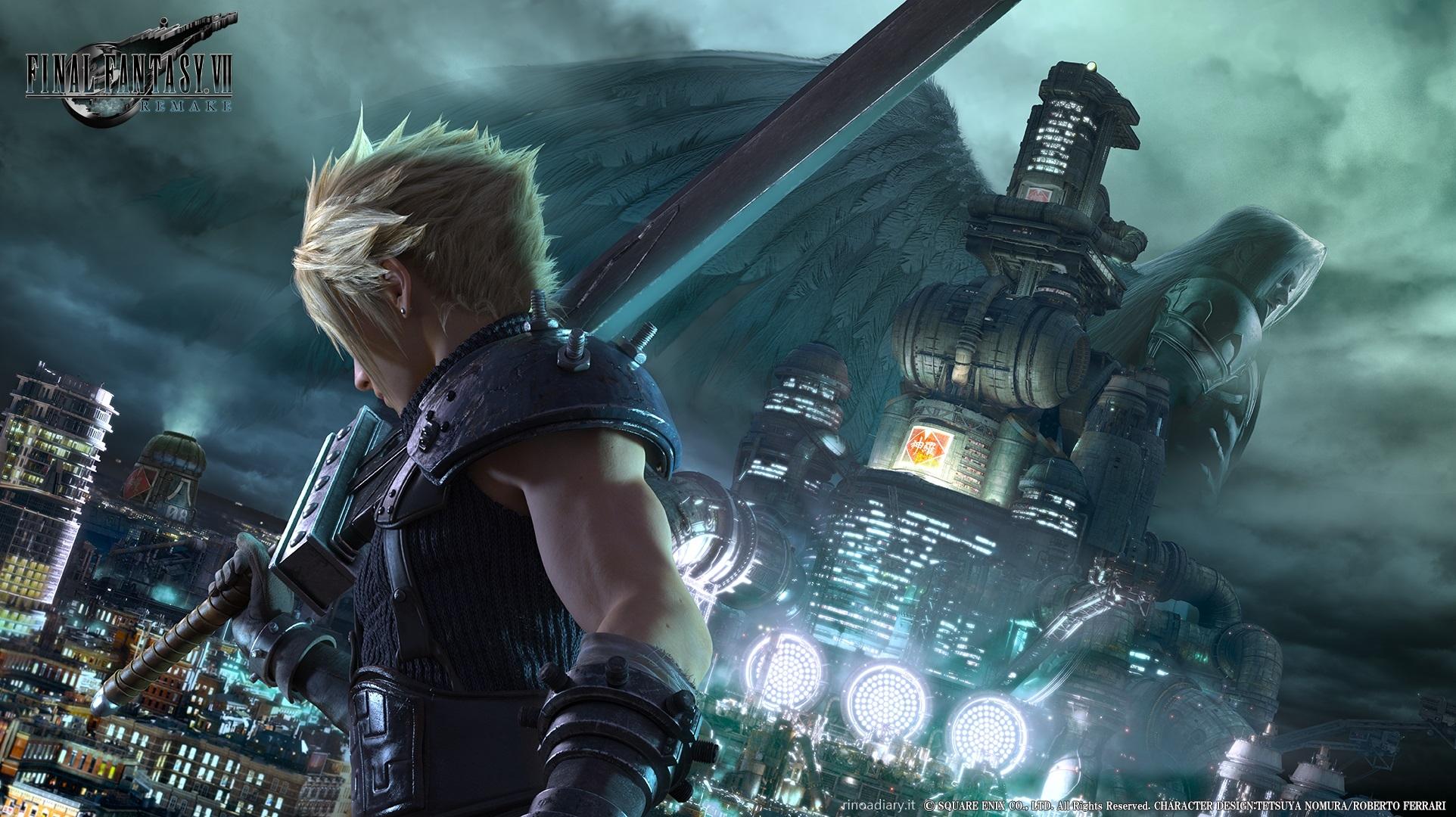 Key-Visual di Cloud, Final Fantasy VII Remake