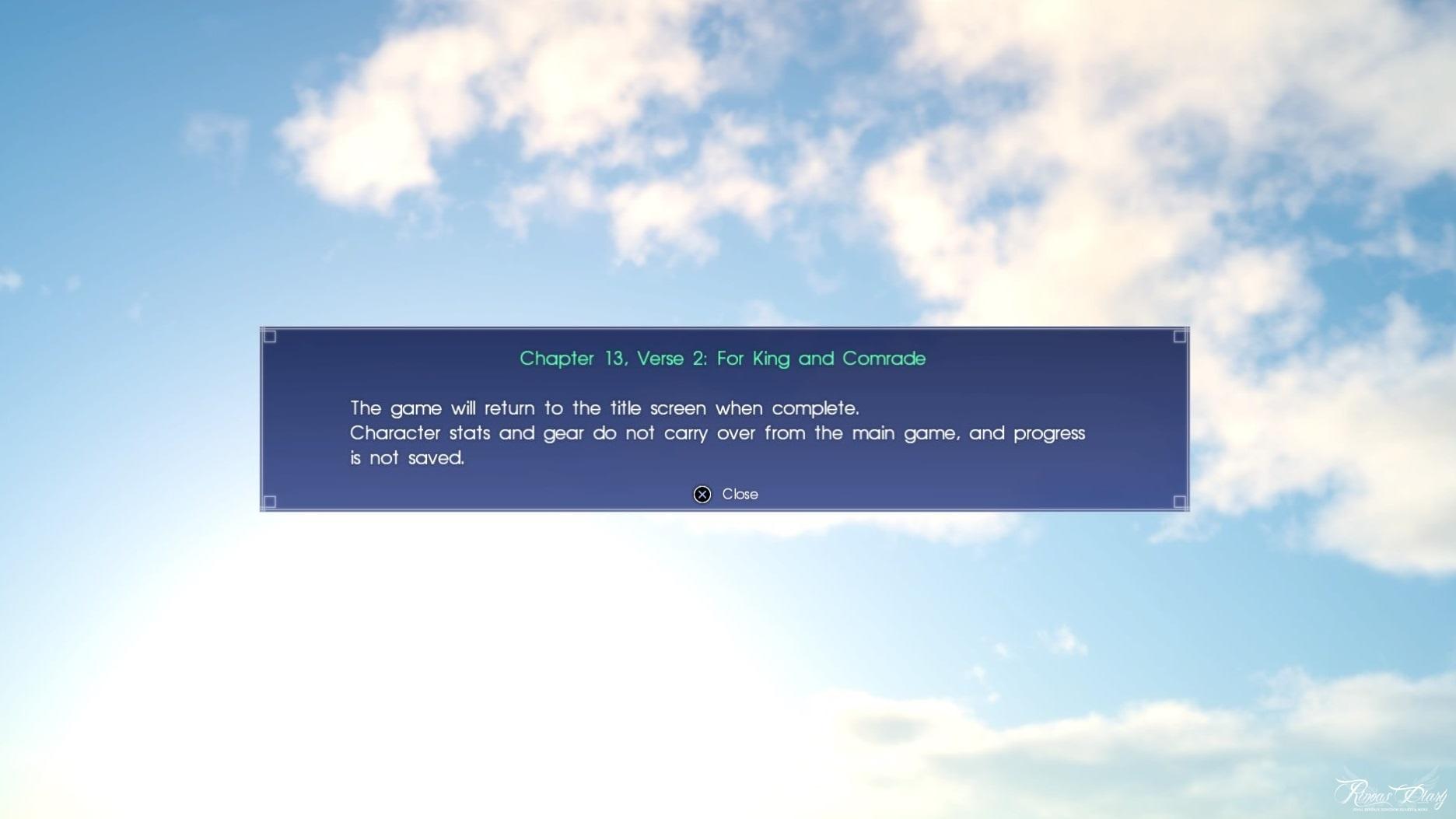 Final Fantasy XV - Capitolo 13, Verse 2