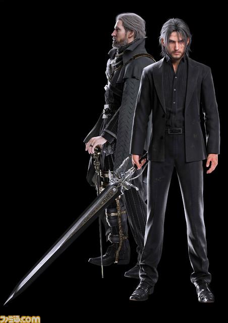 Final Fantasy XV: render di Regis e di un Noctis più adulto