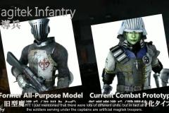I due modelli dei soldati di Niflheim