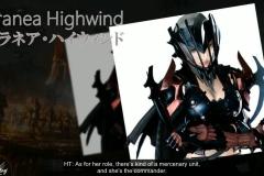 Aranea Highwind, la bella e potente draghiera, ufficiale dell'esercito di Niflheim
