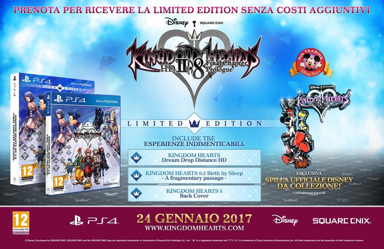 Kingdom Hearts 2.8 HD - Il contenuto della Limited Edition