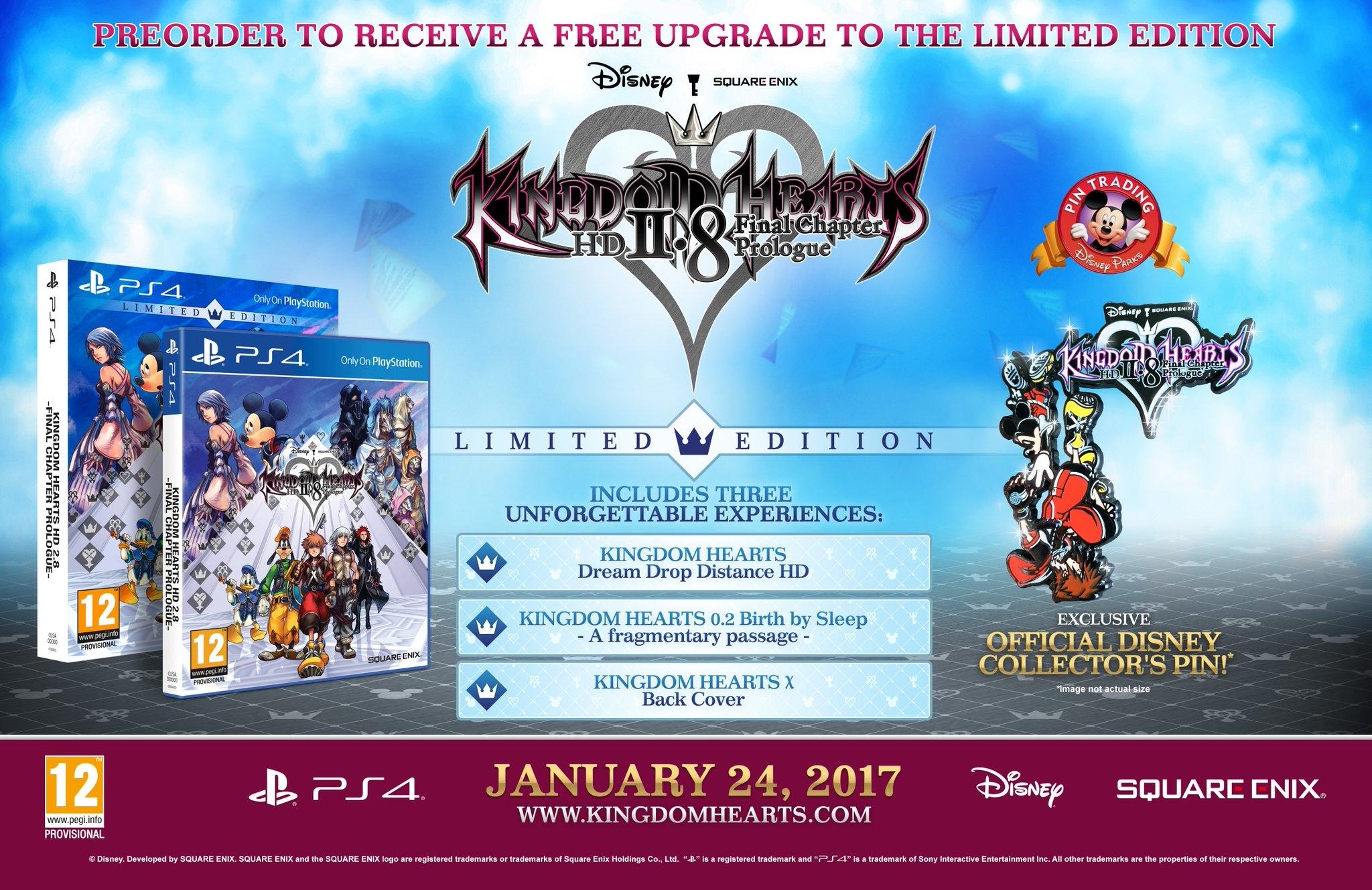 Limited Edition di Kingdom Hearts II.8 HD
