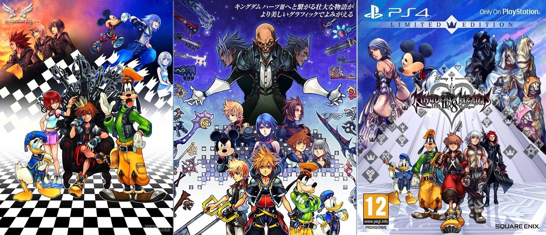 Le cover delle Collection HD di Kingdom Hearts