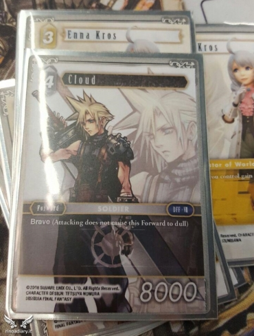 Final Fantasy Trading Card Game - La carta di Cloud, FFVII