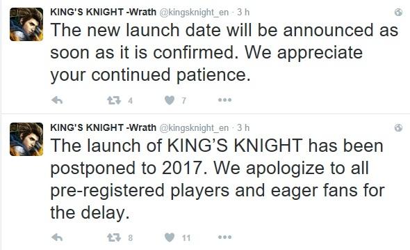 King\'s Knight rinviato al 2017