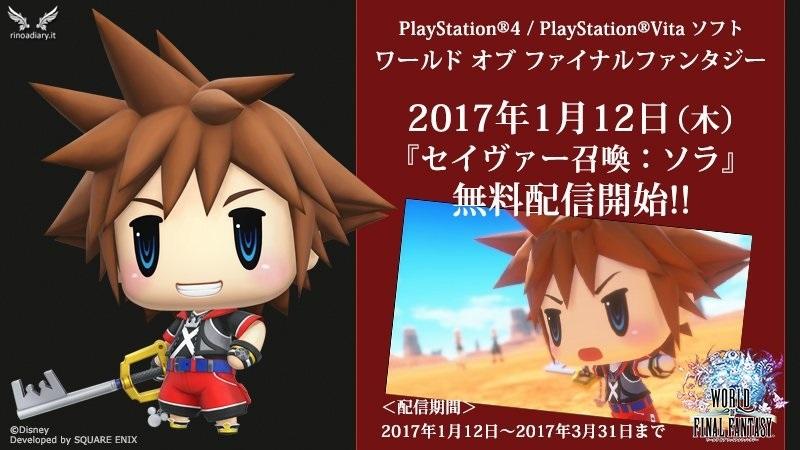Sora, protagonista di Kingdom Hearts, arriva in World of Final Fantasy