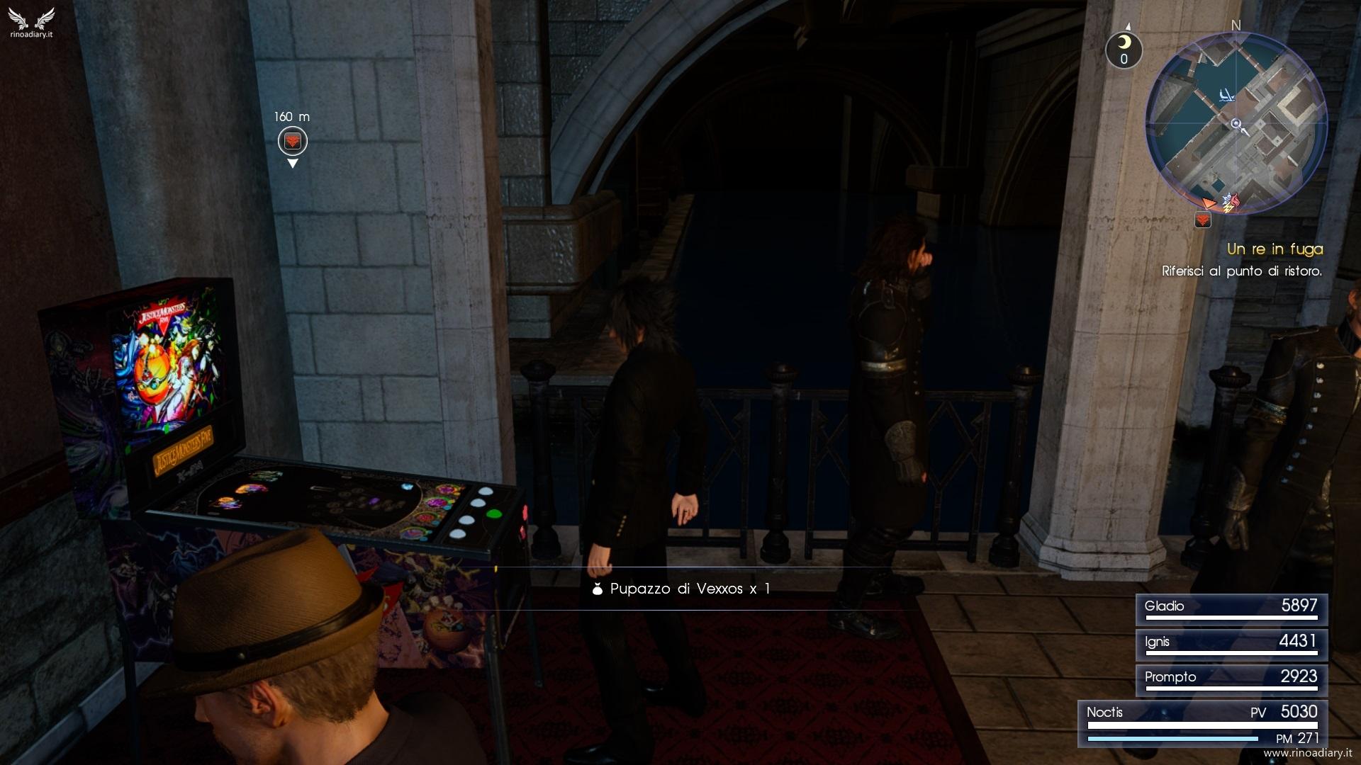Final Fantasy XV - La posizione del flipper ad Altissia