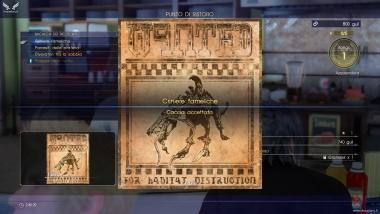 Richiesta di caccia Criniere Fameliche - Final Fantasy XV