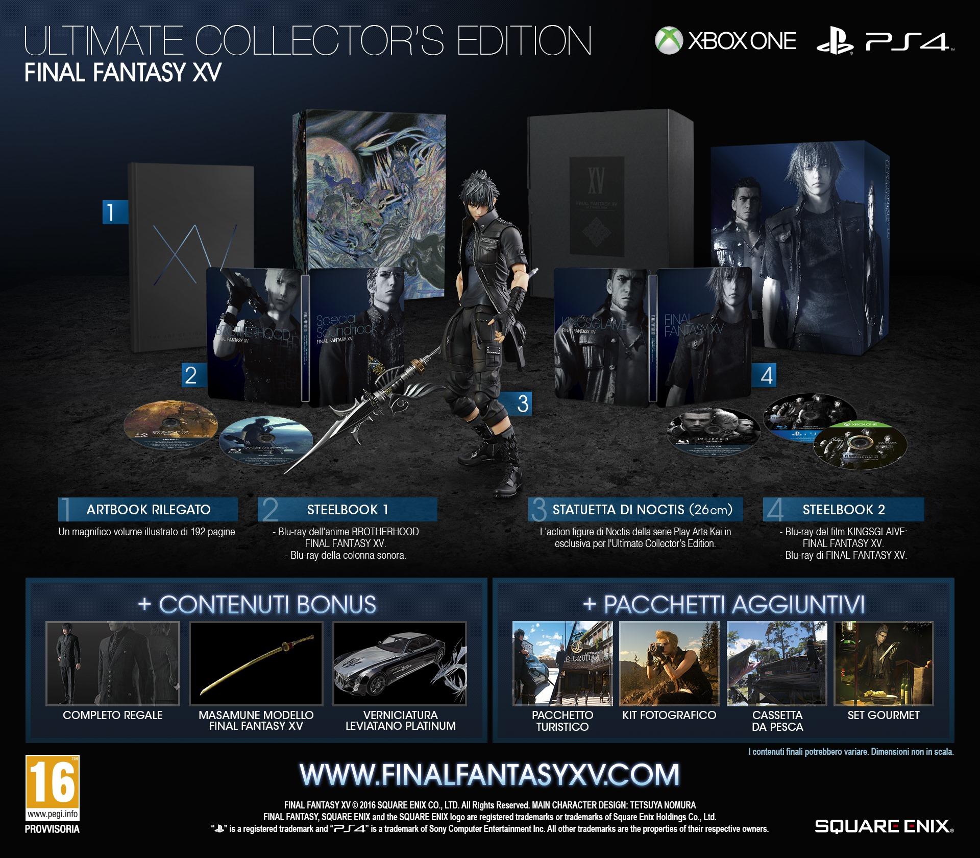 Final Fantasy XV: Ultimate Collector's Edition!