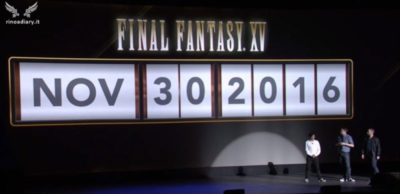 Final Fantasy XV Uncovered: per qualche istante venne mostrata la data del 30 Novembre