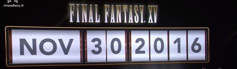 [rumour] Final Fantasy XV slitta al 29 Novembre?