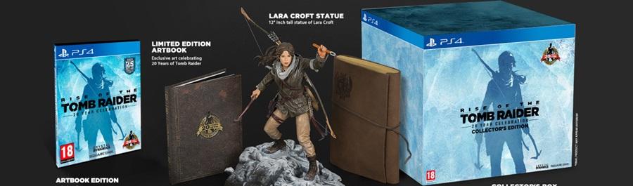 La Collector's Edition di Rise of the Tomb Raider per PlayStation 4