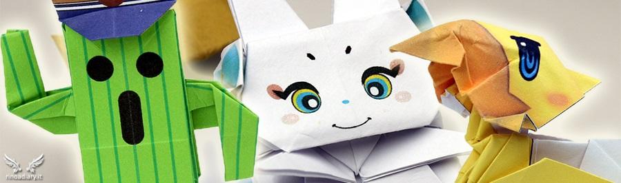 Crea gli origami Final Fantasy di Cactus, Chocobo e Tama!