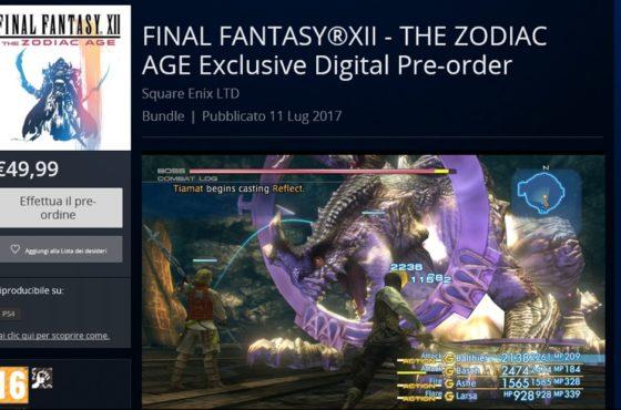 Aperti i preorder (con bonus) di Final Fantasy XII: The Zodiac Age!