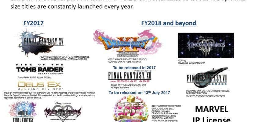 Final Fantasy VII Remake e Kingdom Hearts III in programma per l'anno fiscale 2018 e oltre
