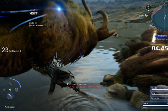 Terza caccia a tempo di Final Fantasy XV: sconfiggiamo più Garula possibili!