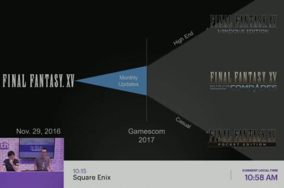 Rivelato Final Fantasy XV o un progetto correlato su Switch?