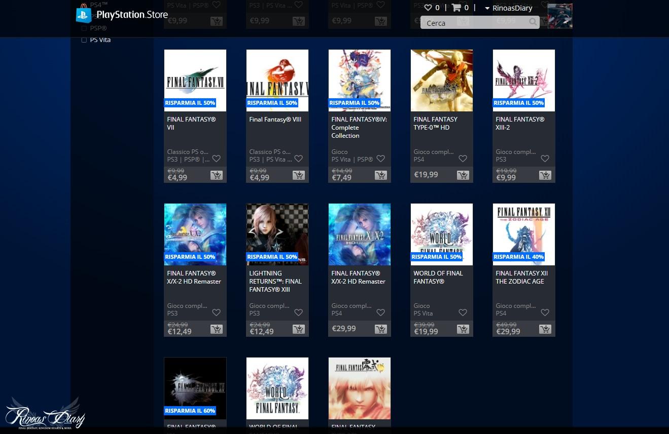 Sono arrivati i saldi Final Fantasy e Kingdom Hearts sul PlayStation Store!