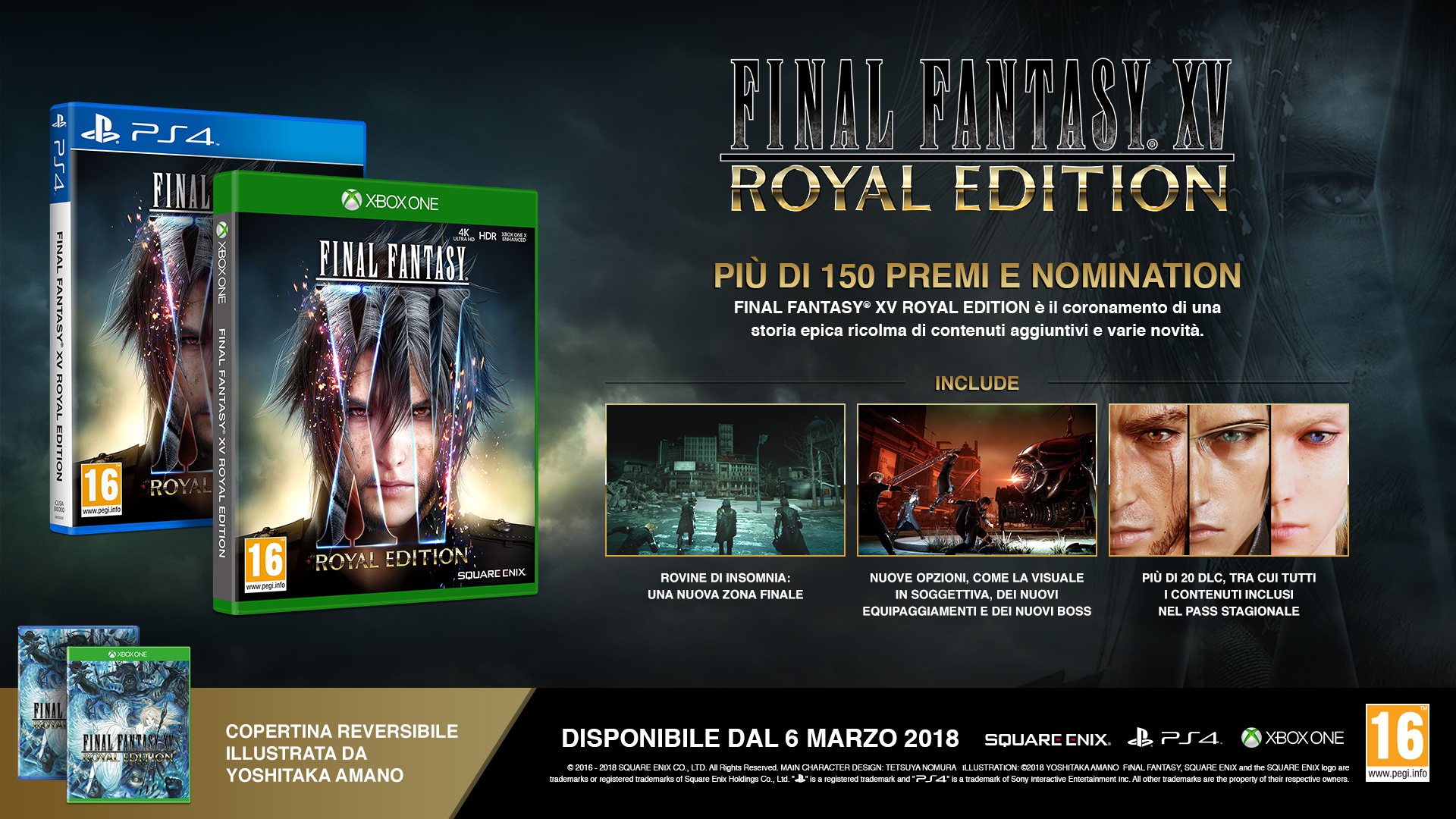 La versione europea di Final Fantasy XV: Royal Edition avrà una doppia cover!