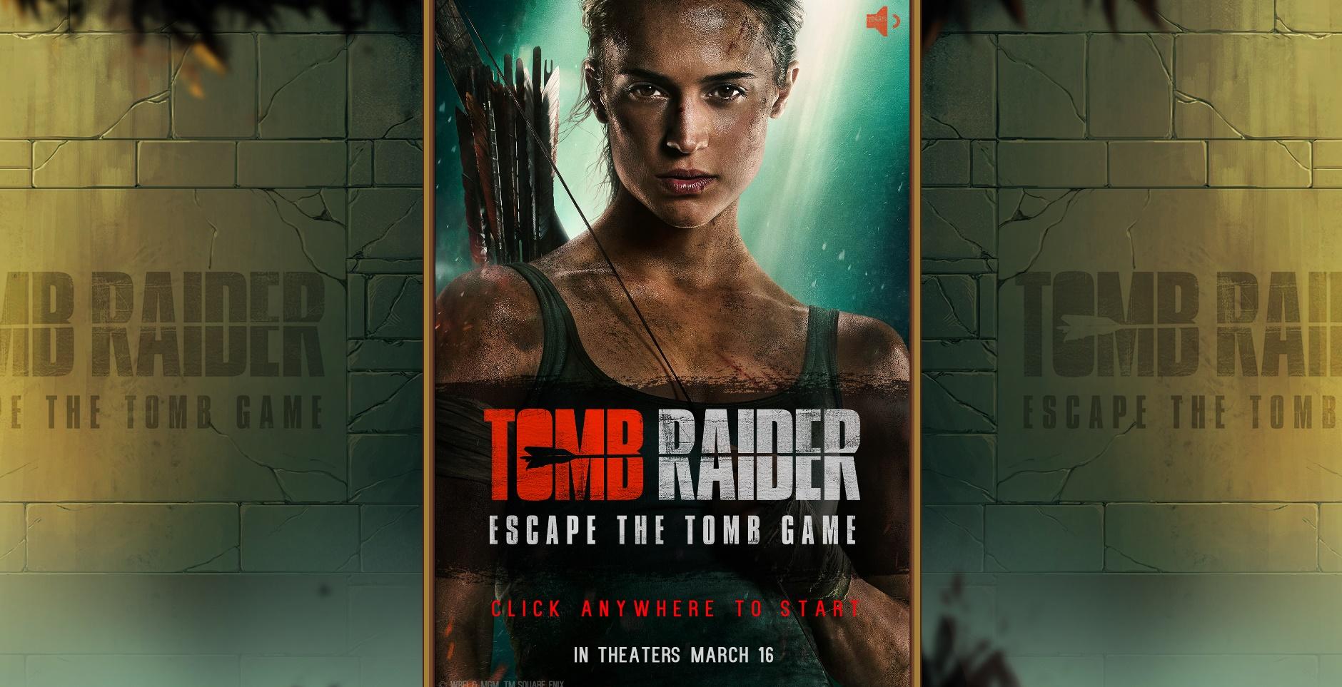 """Tomb Raider lancia il minigioco """"Escape the Tomb"""" in attesa del film!"""