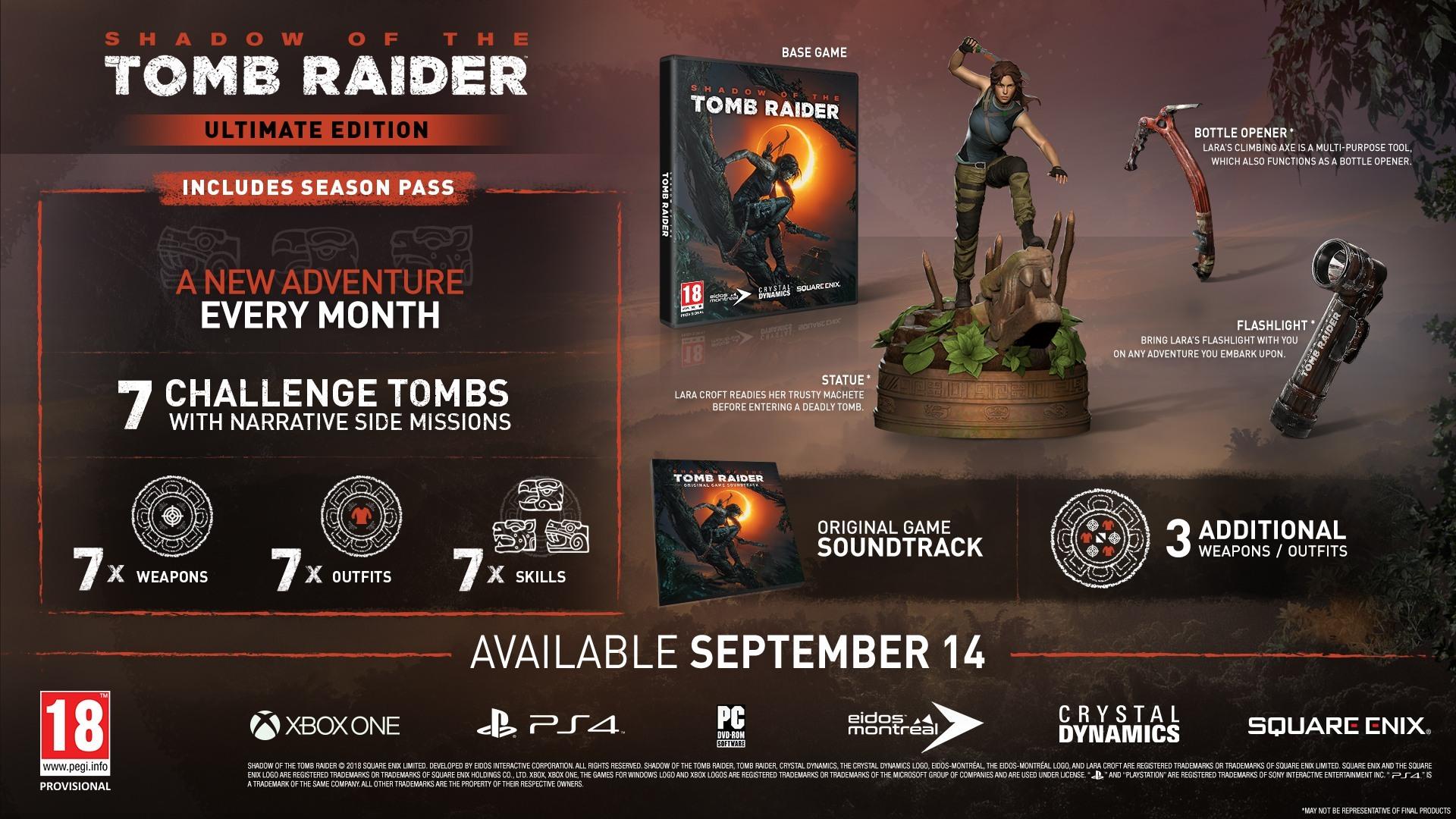 Ultimate Collector's, Croft, Digital Deluxe e Standard: le edizioni di Shadow of the Tomb Raider!