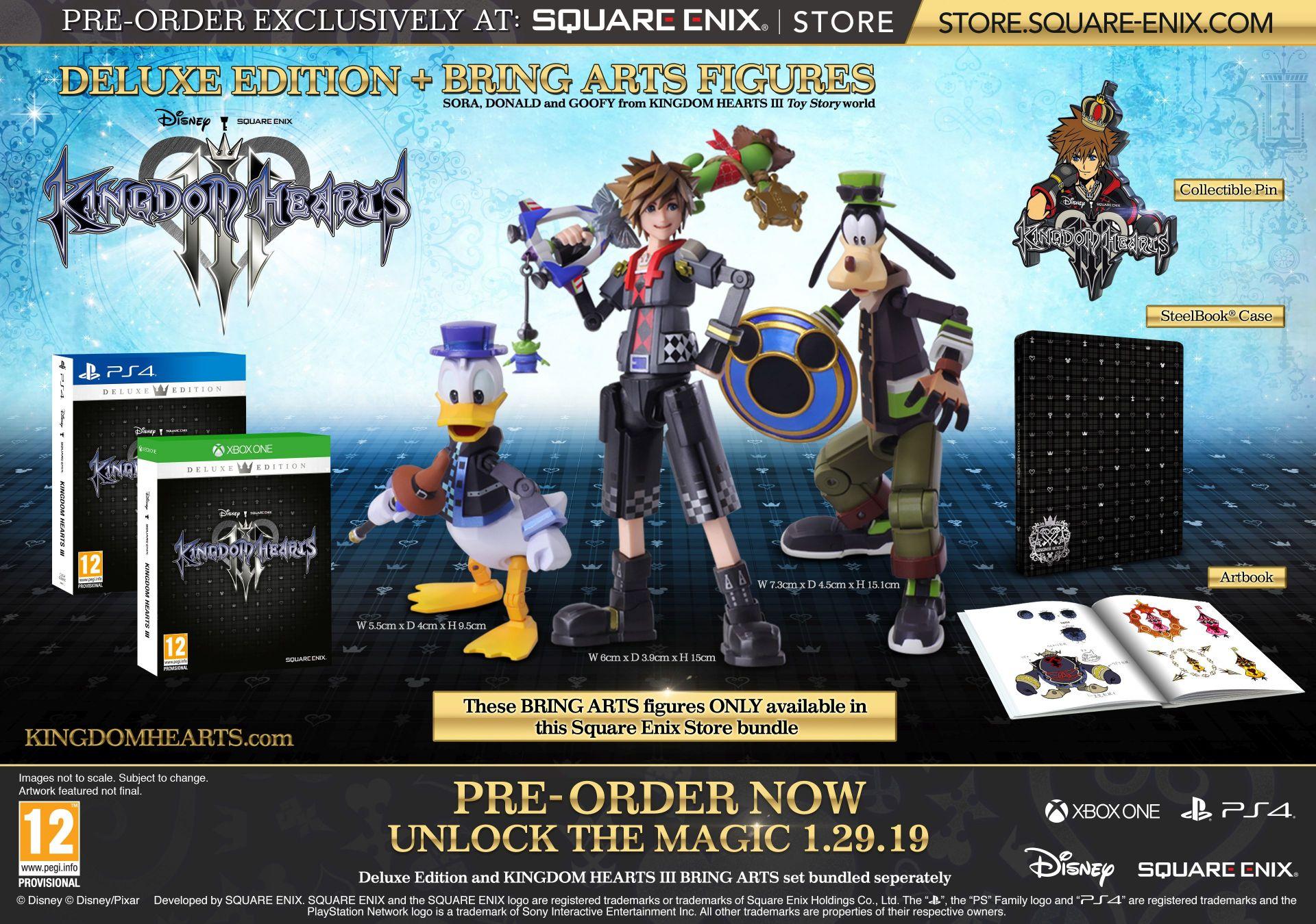 Annunciate due edizioni speciali di Kingdom Hearts III!