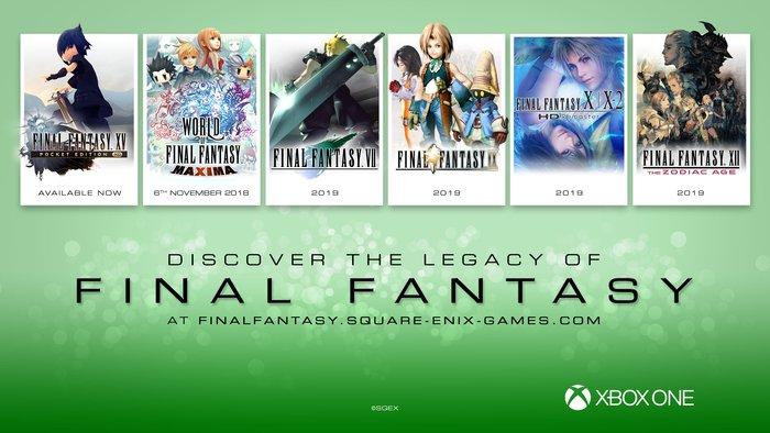 Final Fantasy VII, IX, X X-2, XII e World of Final Fantasy arriveranno anche su Xbox One!