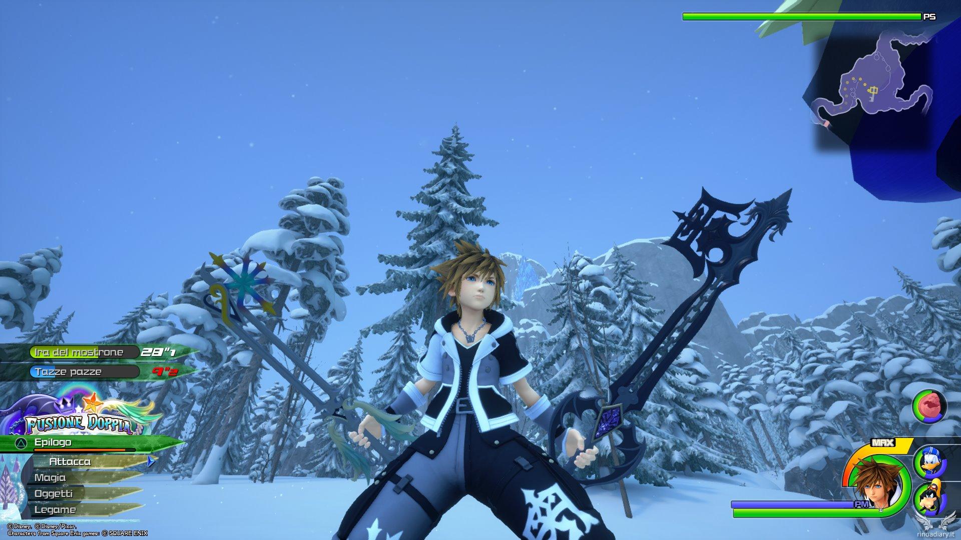 Kingdom Hearts III: come sbloccare i keyblade Portafortuna e Lontano Ricordo!