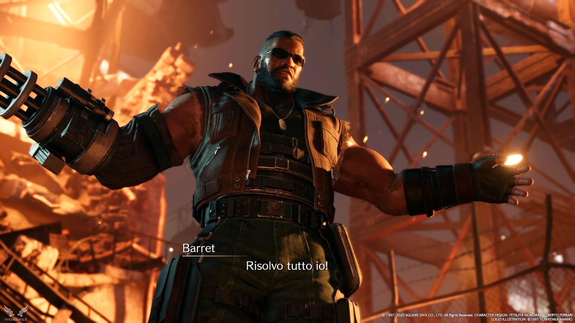 Final Fantasy VII Remake – Le armi di Barret