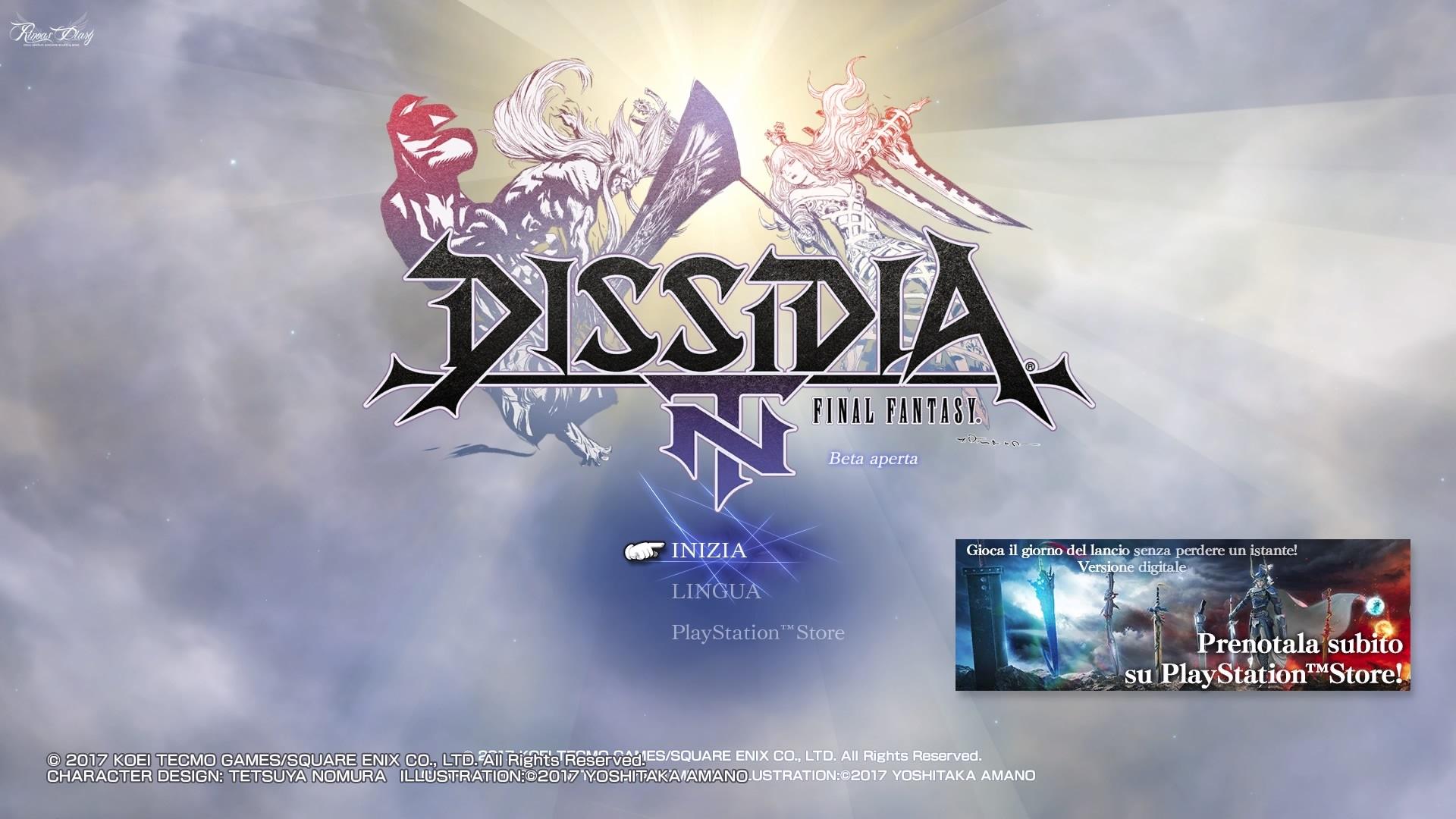 Le tre sessioni della Open Beta di Dissidia Final Fantasy NT!