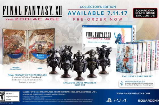 Annunciate Limited Edition e Collector's Edition di Final Fantasy XII: The Zodiac Age!