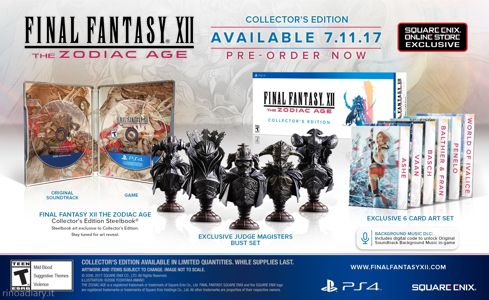 Annunciate Limited Edition e Collector's Edition di Final Fantasy XII: The Zodiac Age!