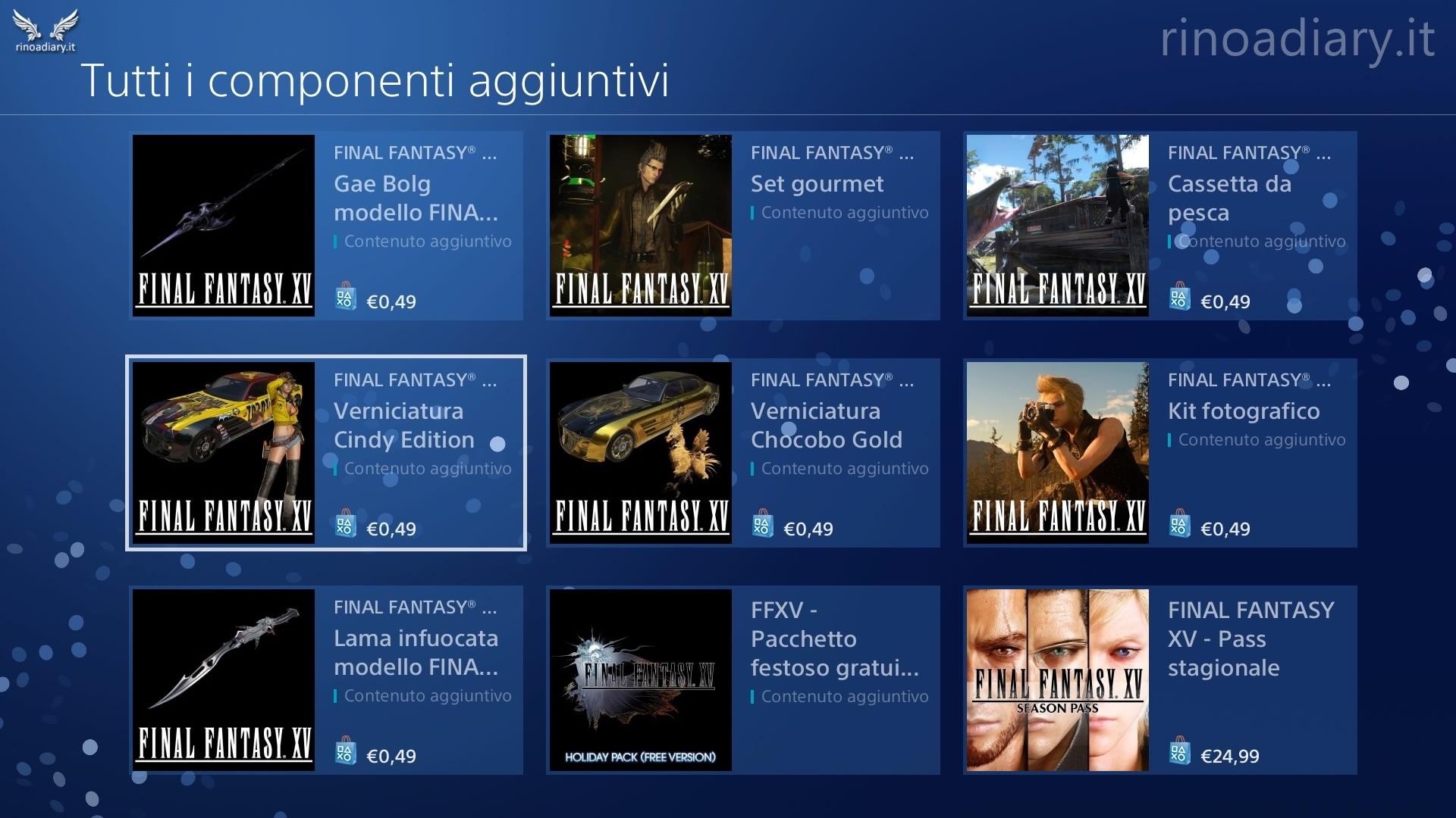 Disponibili sullo Store i DLC preorder di Final Fantasy XV!