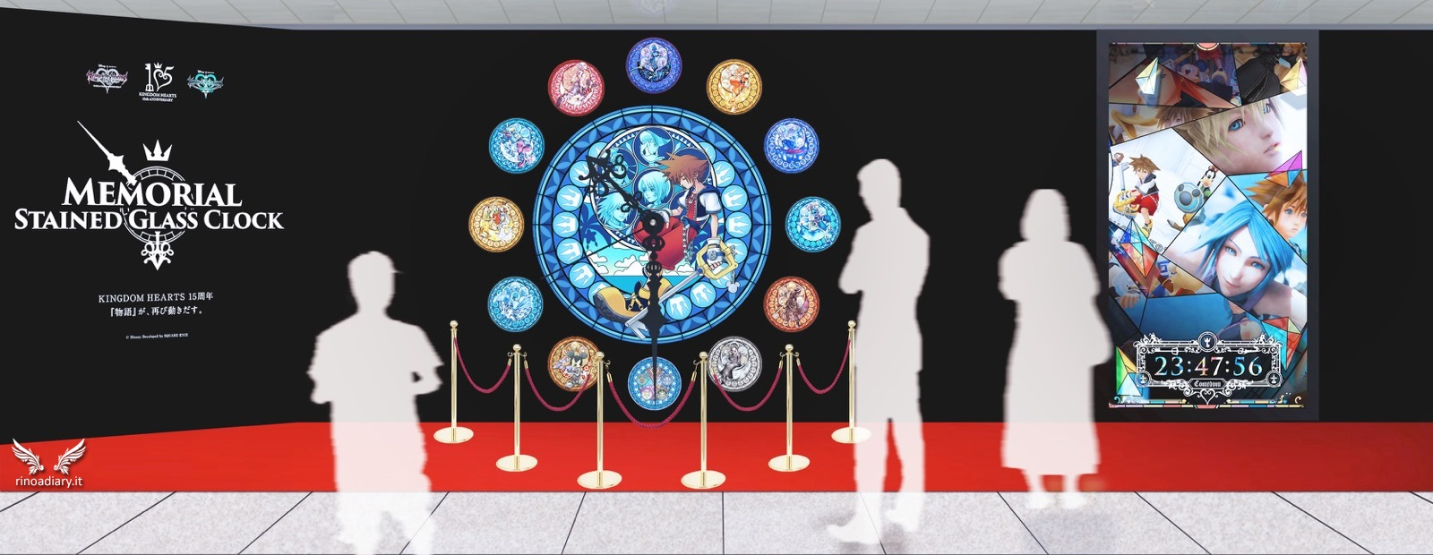 """La campagna """"Memorial Stained Glass Clock"""" per celebrare i 15 anni di Kingdom Hearts"""