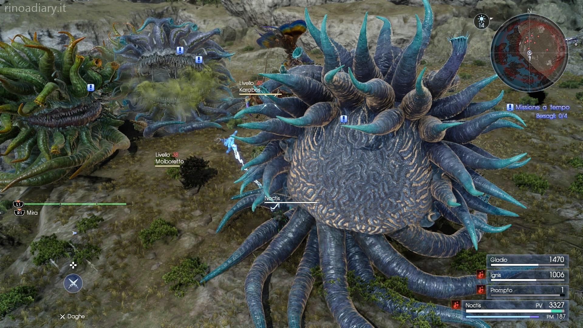 Final Fantasy XV – Missione a tempo – Molboro e Molboro malefico