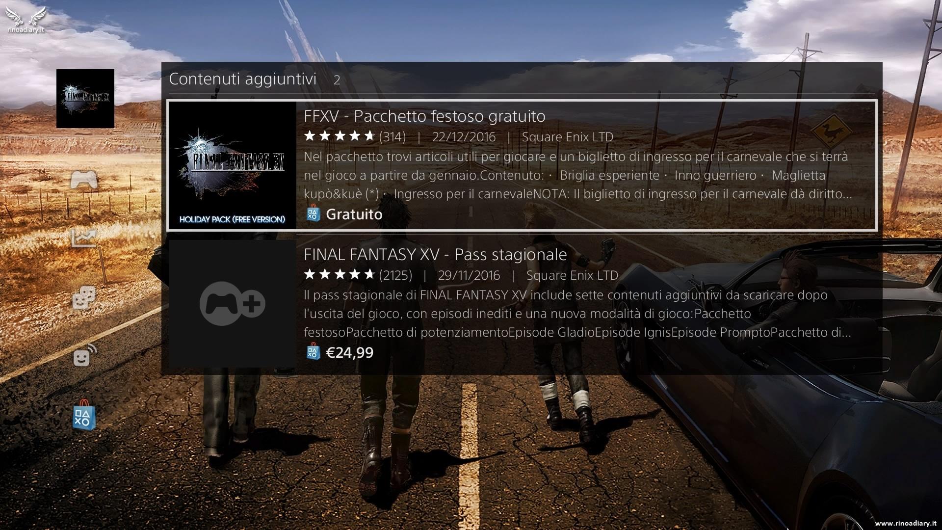 Pacchetto Festoso di Final Fantasy XV disponibile al download!